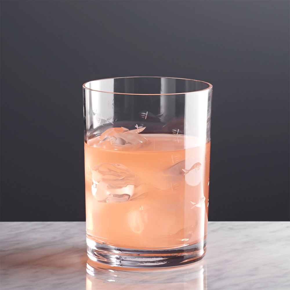 Reef Double Old-Fashioned Glass - Crate and Barrel