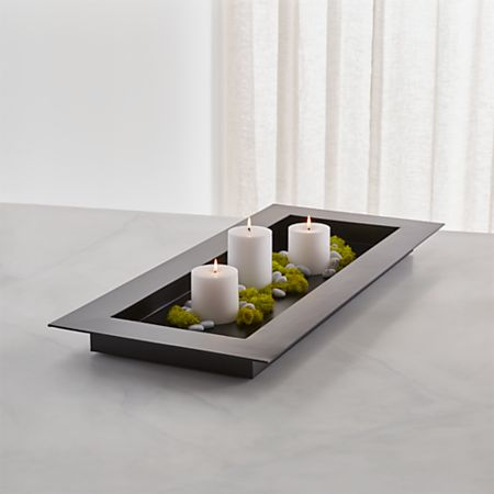 Reflection 32 Black Metal Centerpiece Reviews Crate And Barrel