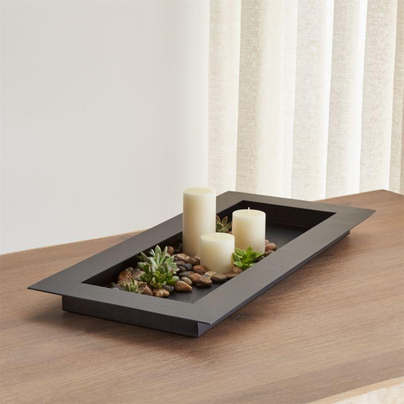 reflection black centerpiece reviews crate and barrel. Black Bedroom Furniture Sets. Home Design Ideas