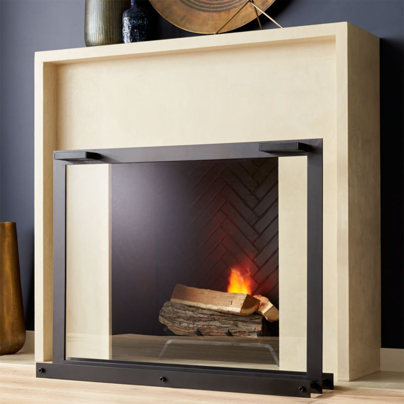 Glass Fireplace Screen Reviews Crate And Barrel