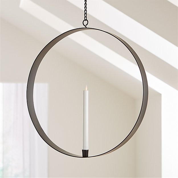 Reflection Metal Circle Hanging Taper Holder - Image 1 of 9
