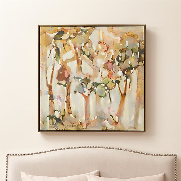 Reflection Abstract Tree Painting + Reviews | Crate and Barrel