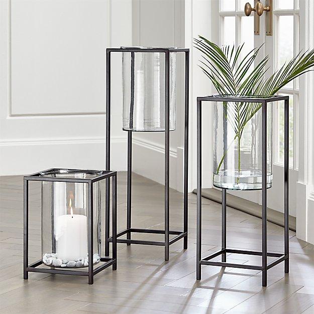 Reflection Framed Vase Hurricanes Crate And Barrel