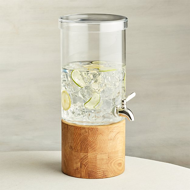 Refreshment Glass Drink Dispenser Reviews Crate And Barrel