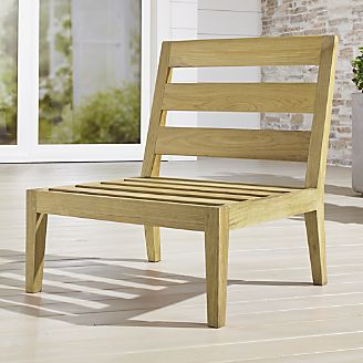 crate and barrel patio furniture dune regatta natural armless chair clearance outdoor furniture and decor crate barrel