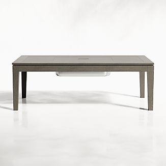 Regatta Grey Wash Coffee Table with Drink Bin
