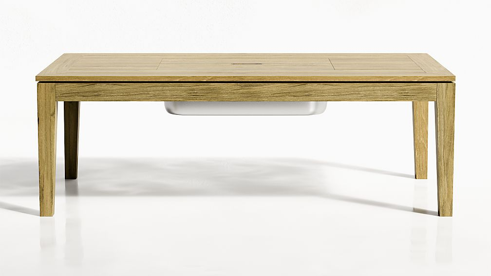 Regatta Natural Coffee Table with Drink Bin - Image 1 of 6