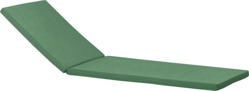 Optional chic cushion in rich bottle green is fade- and mildew-resistant Sunbrella® acrylic.<br /><br /><NEWTAG/><ul><li>Fade- and mildew-resistant Sunbrella acrylic</li><li>Polyurethane foam cushion fill</li><li>Fabric tab fasteners</li><li>Spot clean</li><li>Made in USA</li></ul>