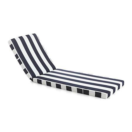 Cabana Stripe Sunbrella Chaise Cushion