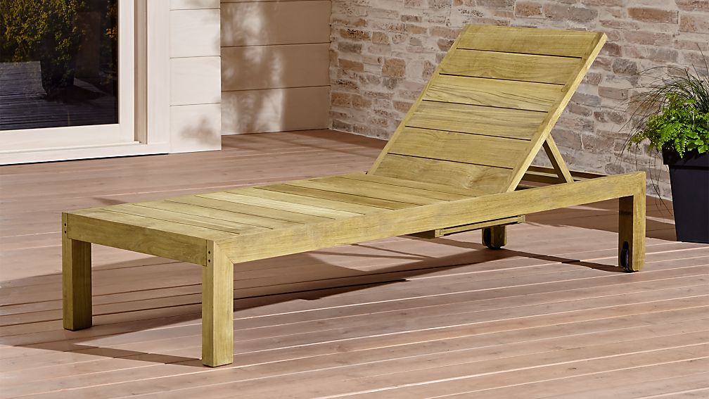 Regatta Natural Chaise Lounge Reviews Crate And Barrel