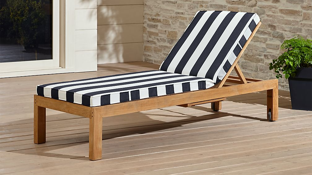 Regatta Black And White Chaise Lounge Crate And Barrel