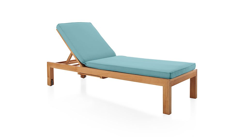 Regatta sunbrella chaise lounge cushion crate and barrel for Blue chaise lounge