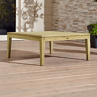 solid wood coffee tables | crate and barrel
