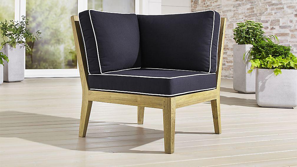 Regatta Natural Corner Chair with Sunbrella ® Cushions - Image 1 of 4