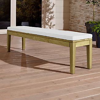 Regatta Natural Dining Bench with White Sand Sunbrella ® Cushion