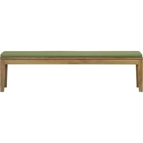 Regatta Dining Bench with Sunbrella ® Cilantro Cushion
