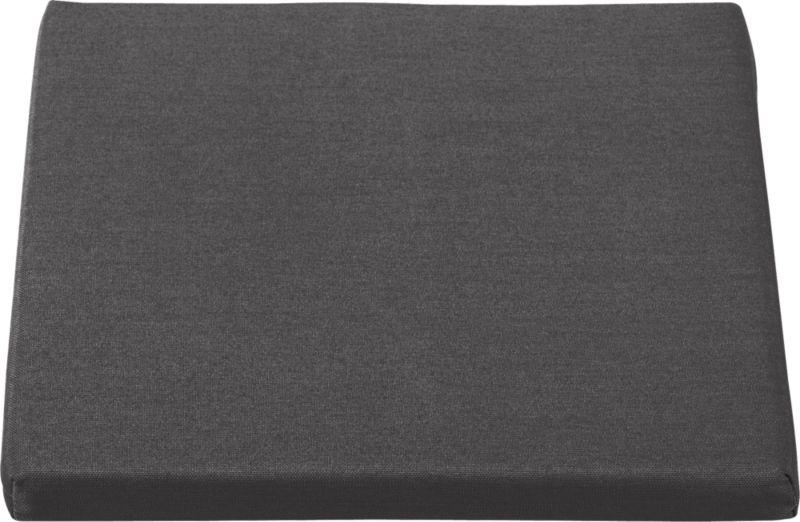 Optional cushion is fade- and mildew-resistant Sunbrella® acrylic in chic charcoal.<br /><br /><NEWTAG/><ul><li>Fade- and mildew-resistant Sunbrella acrylic</li><li>Polyurethane foam cushion fill</li><li>Fabric tab fasteners</li><li>Spot clean</li><li>Made in USA</li></ul>