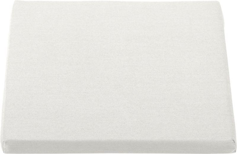 Optional cushion is fade- and mildew-resistant Sunbrella® acrylic in warm white sand.<br /><br /><NEWTAG/><ul><li>Fade- and mildew-resistant Sunbrella acrylic</li><li>Polyurethane foam cushion fill</li><li>Fabric tab fasteners</li><li>Spot clean</li><li>Made in USA</li></ul>