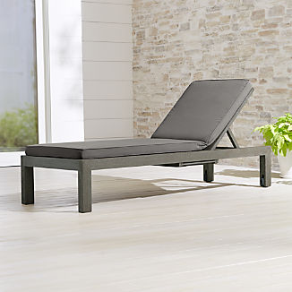 Regatta Grey Wash Chaise Lounge with Graphite Sunbrella ® Cushion