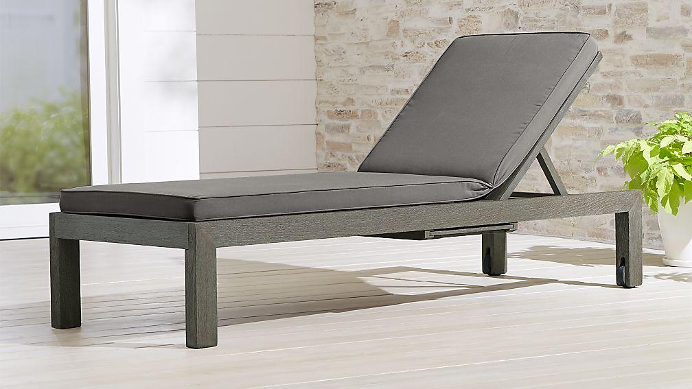 Regatta Grey Wash Chaise Lounge with Graphite Sunbrella ® Cushion - Image 1 of 7