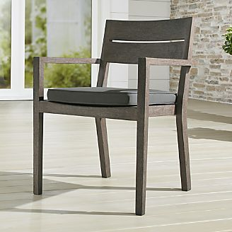 crate and barrel patio furniture. Regatta Grey Wash Dining Chair With Sunbrella ® Cushion Crate And Barrel Patio Furniture