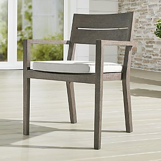Regatta Grey Wash Dining Chair With Sunbrella ® Cushion