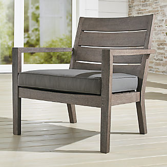 Regatta Grey Wash Lounge Chair with Graphite Sunbrella ® Cushion