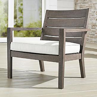 Regatta Grey Wash Lounge Chair with White Sand Sunbrella ® Cushion