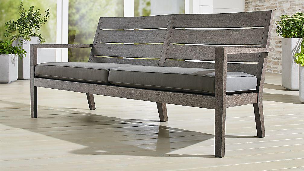 Regatta Grey Wash Sofa with Graphite Sunbrella ® Cushion - Image 1 of 6