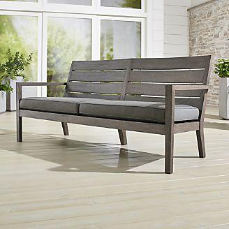 Regatta Grey Wash Sofa With Sunbrella ® Cushion