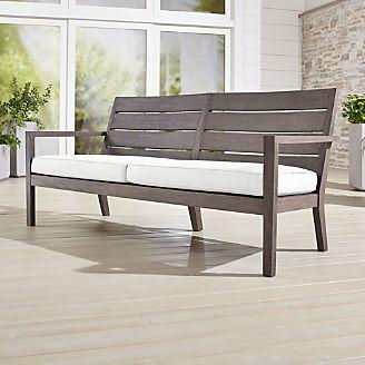 Regatta Grey Wash Sofa With Sunbrella Cushion