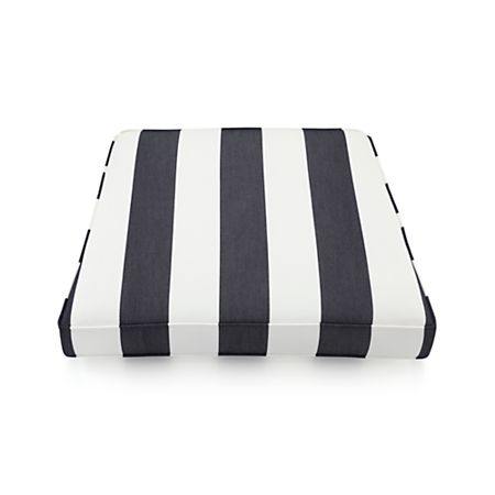 Regatta Striped Outdoor Chair Cushion Crate And Barrel Canada