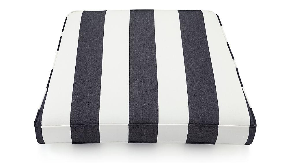 Regatta Cabana Stripe Navy Sunbrella ® Lounge Chair Cushion - Image 1 of 2