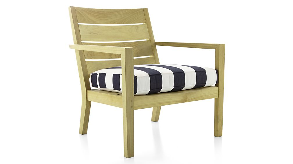 regatta striped outdoor chair cushion crate and barrel