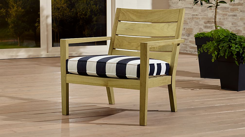 regatta outdoor teak chairs crate and barrel