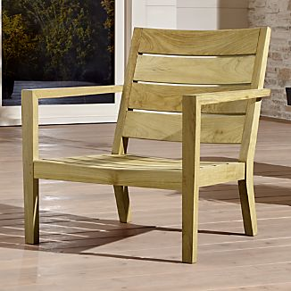 Teak Outdoor Chairs Crate and Barrel