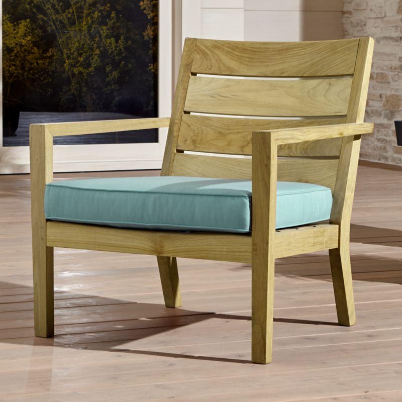 Regatta Natural Lounge Chair With Soft Mineral Sunbrella