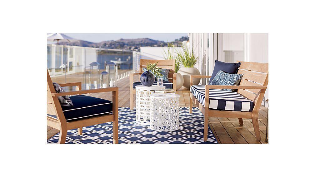 Regatta Sunbrella Sofa Cushions Reviews Crate And Barrel