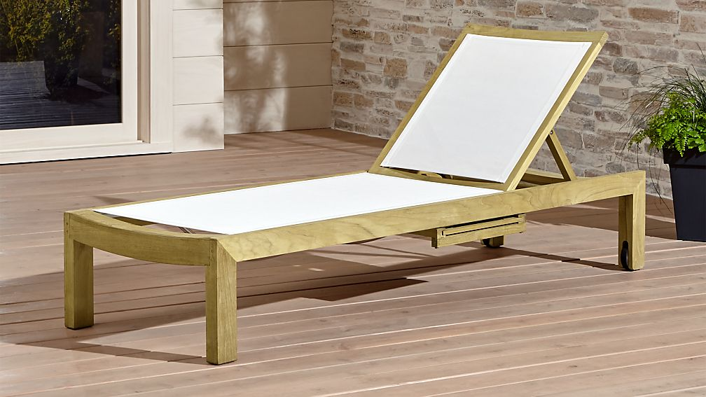 Outdoor Chaise Lounge.Regatta Natural Mesh Chaise Lounge