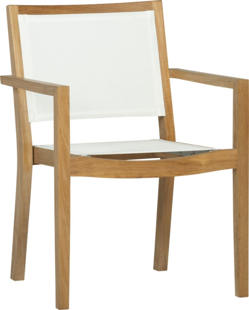 Our eco-friendly Regatta teak and mesh dining collection cuts a clean, classic profile in a bold design, handcrafted of TFT-supported plantation-grown teak. Mesh dining chair option features UV- and fade-resistant Batyline® white mesh inserts. We recommend allowing the unfinished teak to weather to a silvery grey. To maintain the natural color, use our Golden Care® Teak Protector. Regatta lounge collection also available.<br /><br /><NEWTAG/><ul><li>Solid teak harvested from plantations working with TFT</li><li>Unfinished</li><li>White Batyline synthetic mesh inserts</li><li>Mortise-and-tenon joinery</li><li>Stainless steel hardware</li><li>Stackable</li><li>Clean Batyline mesh with mild soap and water or our Sunbrella® Fabric Cleaner</li><li>Made in Indonesia</li></ul>