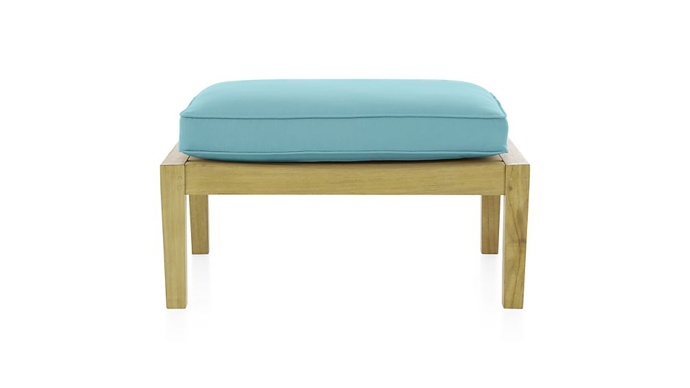 ... Regatta Sunbrella ® Ottoman Cushion ... - Regatta Blue Ottoman Cushion Crate And Barrel