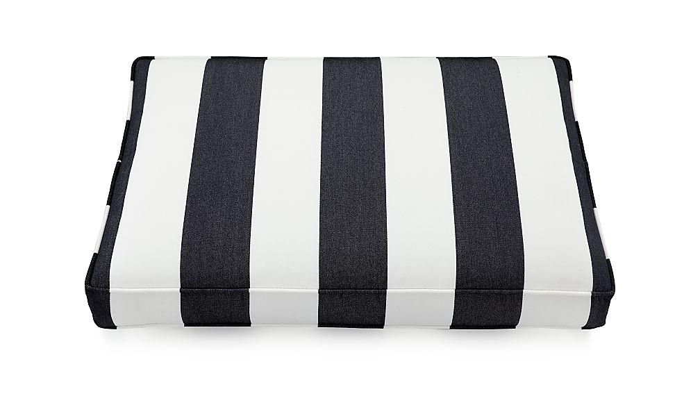Regatta Cabana Stripe Navy Sunbrella ® Ottoman Cushion - Image 1 of 2