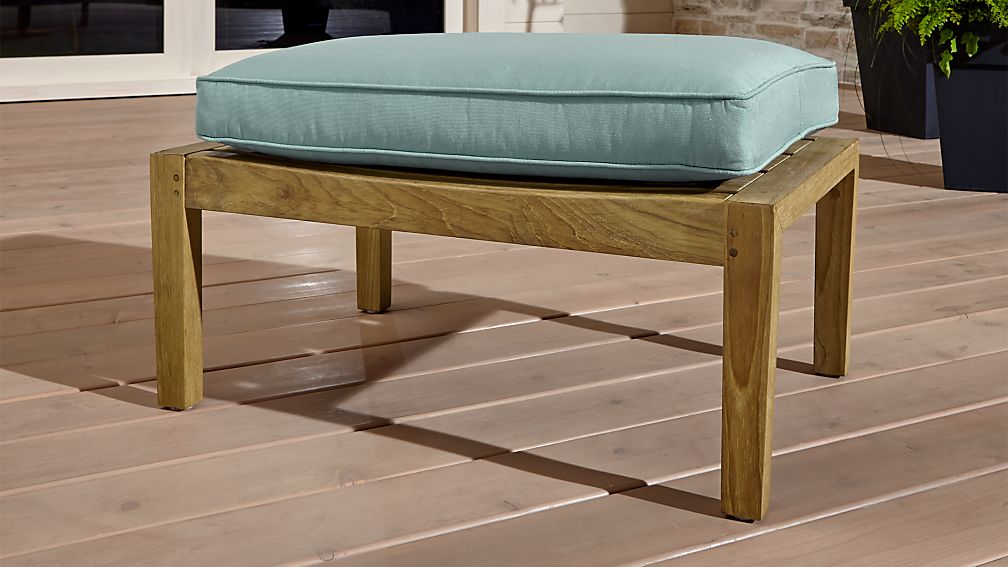 Regatta Natural Ottoman with Soft Mineral Sunbrella ® Cushion - Image 1 of 4