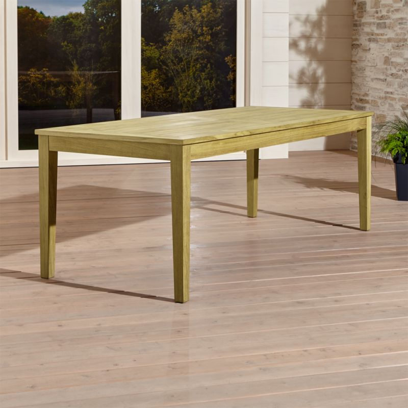 Regatta Rectangular Teak Table Reviews Crate and Barrel