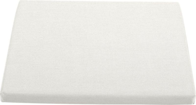 Optional warm white sand cushion is fade- and mildew-resistant Sunbrella® acrylic.<br /><br /><NEWTAG/><ul><li>Fade- and mildew-resistant Sunbrella acrylic</li><li>Polyurethane foam cushion fill</li><li>Fabric tab fasteners</li><li>Spot clean</li><li>Made in USA</li></ul>