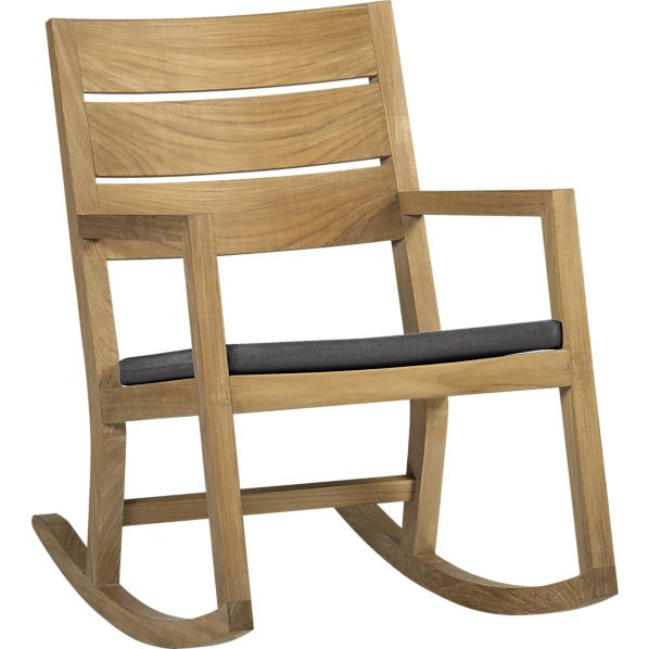 Regatta Rocking Chair with Sunbrella ® Charcoal Cushion