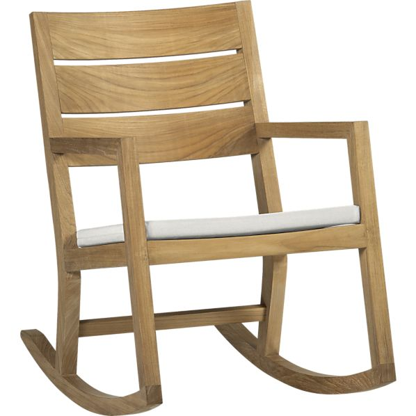 Regatta Rocking Chair with Sunbrella ® White Sand Cushion