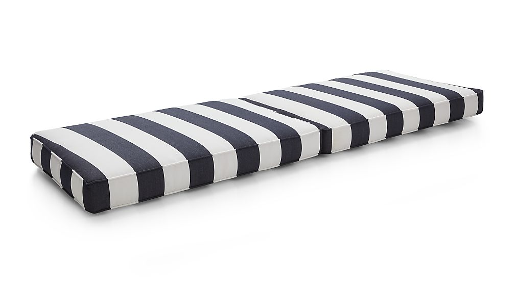 Regatta Cabana Stripe Navy Sunbrella ® Sofa Cushions - Image 1 of 3