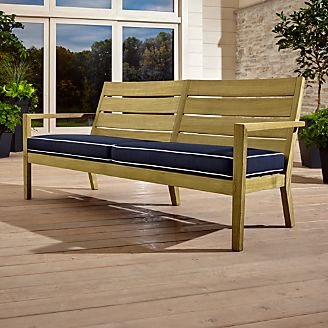 crate barrel outdoor furniture. regatta sofa with sunbrella cushion crate barrel outdoor furniture