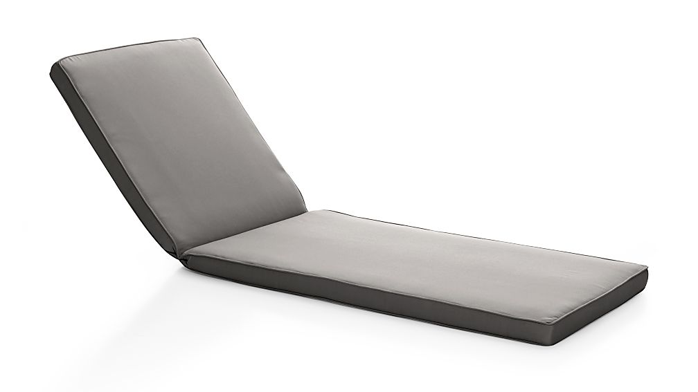 Regatta Graphite Sunbrella ® Chaise Lounge Cushion - Image 1 of 2